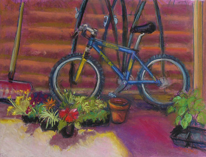 The Back Porch  24 X 18 Pastel