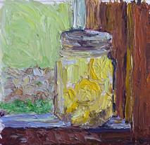 Lemons on the Window 8x8 Oil