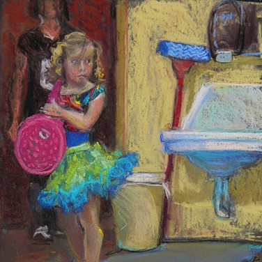 Back Stage 8x6 Pastel