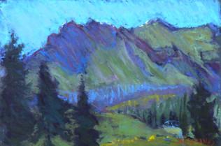 Trapper Lake Hills Pastel