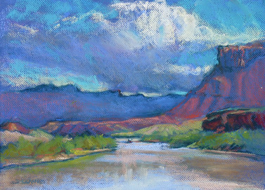 East of Moab 16x12 Pastel