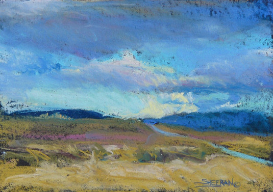 Evening Skies East of Vernal 10 X 7 Pastel