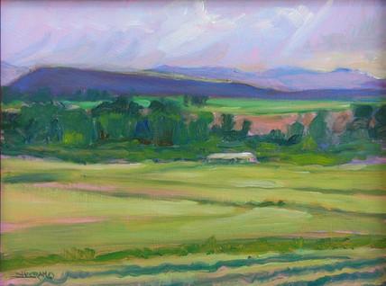 Sunset on the Fields 9x12