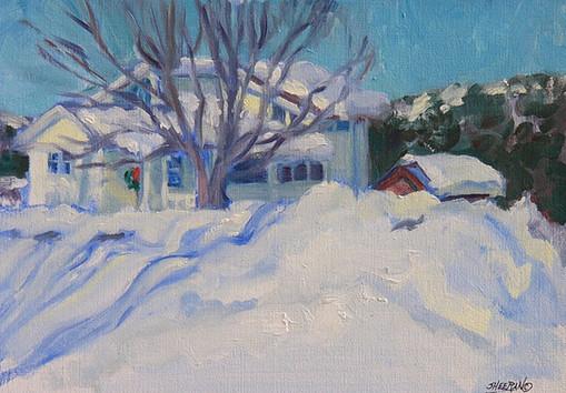 Spring Snow 11x7.5 Oil