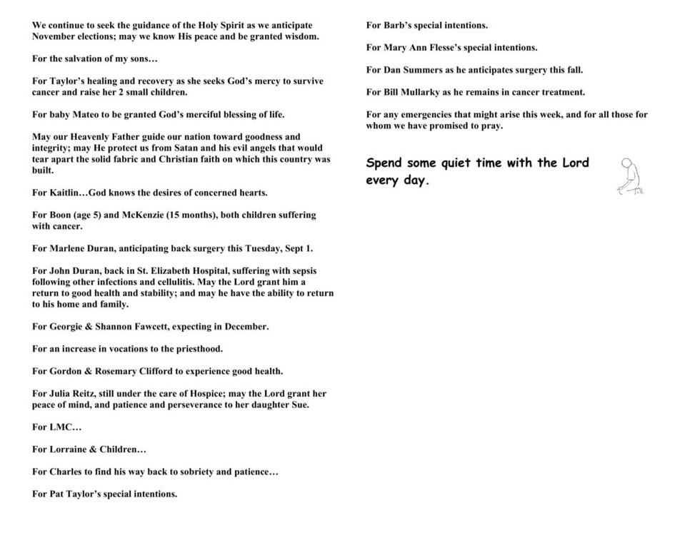 2020-22nd-Sunday-in-Ordinary-Time-Prayer