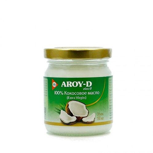100 % Кокосовое масло AROY-D, Extra Virgin 180 мл (12 шт.)