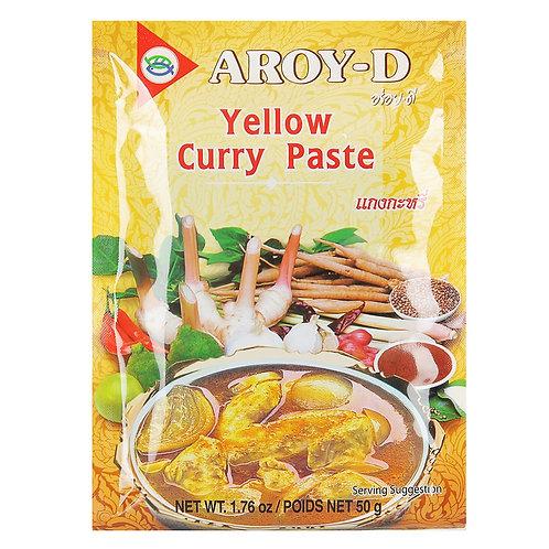Паста карри желтая AROY-D (12 пакетиков по 50 г, 120 шт.)
