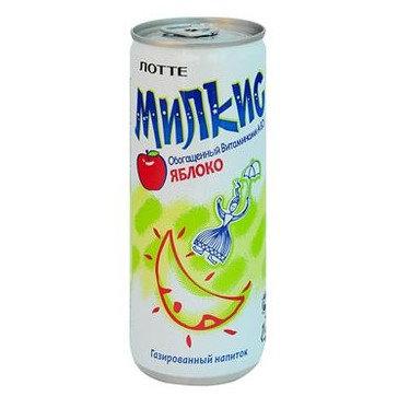 Напиток МИЛКИС LOTTE | Яблоко, с газом 250 мл (30 шт)