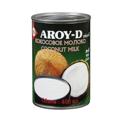 Кокосовое молоко AROY-D 60%, жирность 17-19% AROY-D 400 мл (24 шт.)