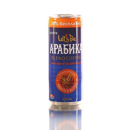 Кофейный напиток Lotte Let's Be Arabica 235 мл (30 шт.)