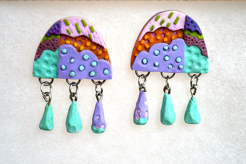 """""""Clouds"""" earrings"""
