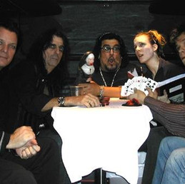 With Alice Cooper and band members