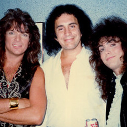 With Gene Simmons (Kiss) 1987