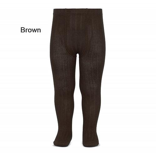 Brown Rib tights