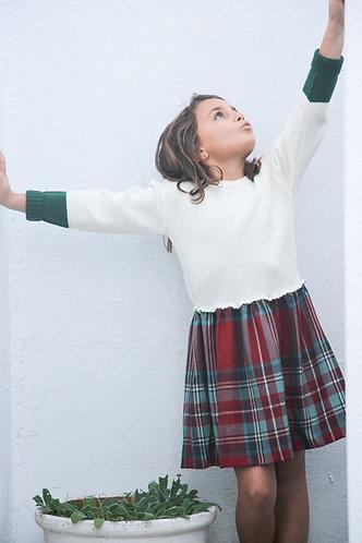 Wool and tartan dress/ Vestido escocês e lã