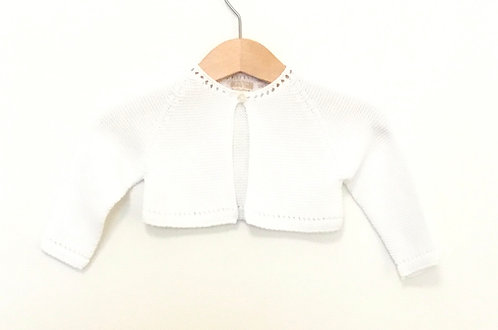 White baby cardigan/ Casco bebe br