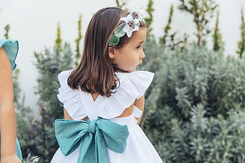 Emerald linen band /Faixa linho esmeralda