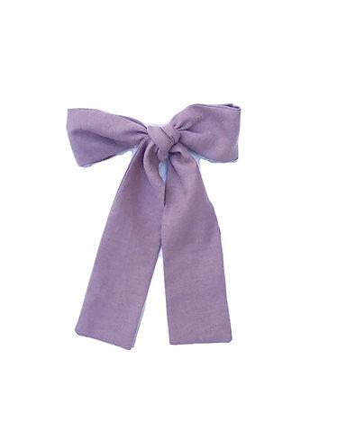 Dark pink Long hair bow/Laço de cabelo comprido cr escuro