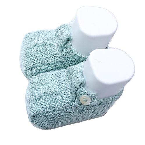 Light green Baby cotton shoes/ Botas de bebe de algodão verde água