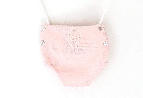 Pink wool nappy cover / tapa fraldas cor de rosa lã
