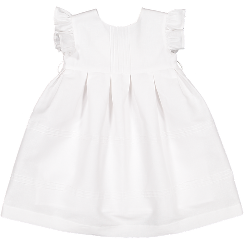Pack ( 1 of each size) White dress with ribs/Vestido branco com nervuras