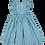 Thumbnail: Emerald dress elastic and frill/ Vestido esmeralda elástico e folho