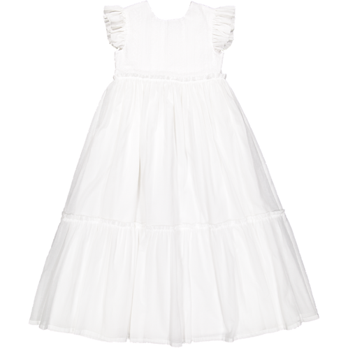 Pack ( 1 of each size) Long embroidery white dress
