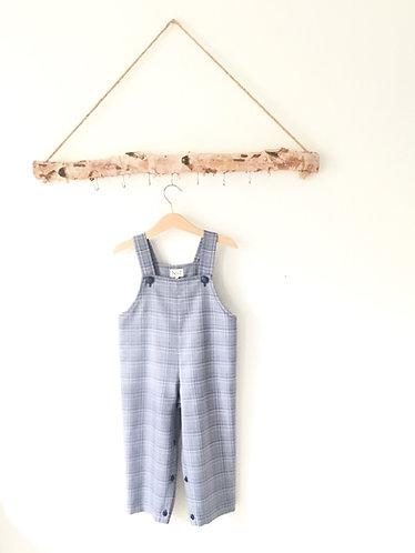 Blue&grey Tartan overalls/ Jardineiras escocês azul e cinzento