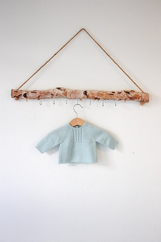 Light green Baby wool cardigan / Camisola bebe verde água lã torçidos