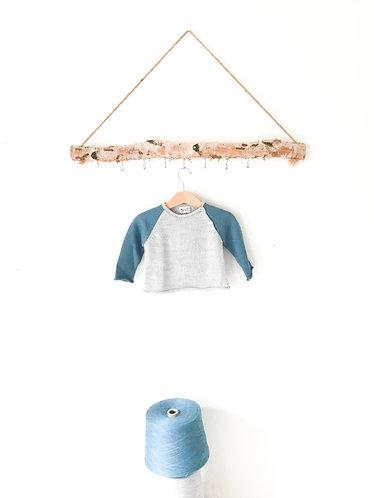 Grey/darkblue wool jumper/ Camisola lã cinzento/az forte