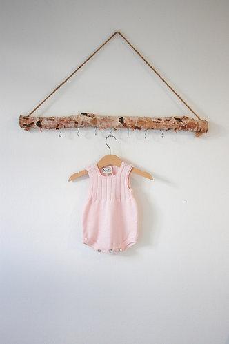 Pink Wool baby romper/ Fofo cr bebe lã