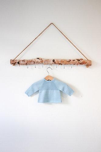 Blue Baby wool cardigan raglan/ Camisola bebe lã azul raglan