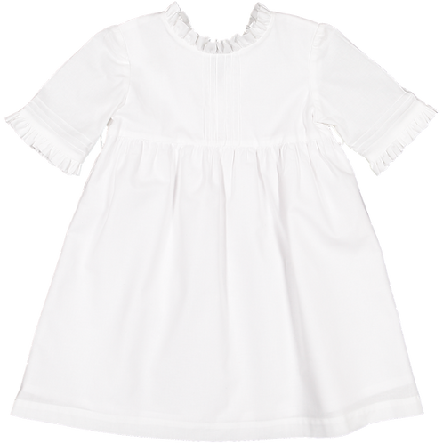 Pack ( 1 of each size) White dress with 3/4 sleevs