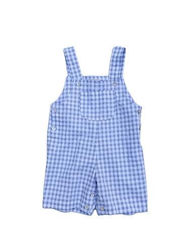 Blue vichy overalls /Jardineiras vichy azuis