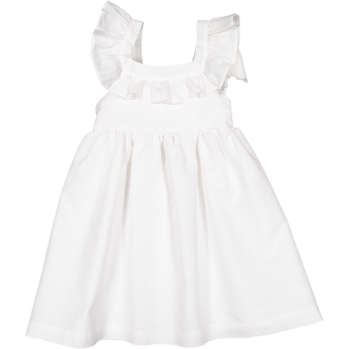 Pack ( 1 of each size) White dress elastic and frill