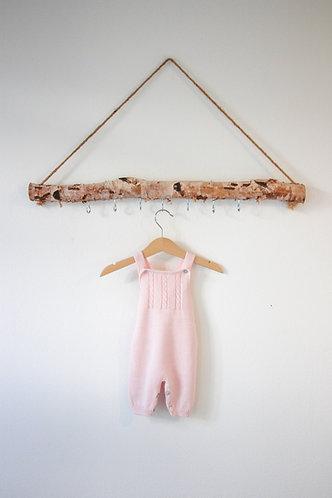 Pink Baby Wool overalls/Jardineiras lã bebe cr