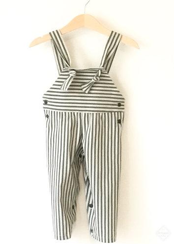Green stripes overalls/ Jardineiras riscas verdes