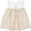 Thumbnail: White&beige dress with ribs/ Vestido branco&bege com nervuras