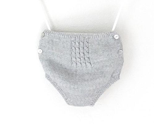 Grey wool nappy cover / tapa fraldas cinzento lã
