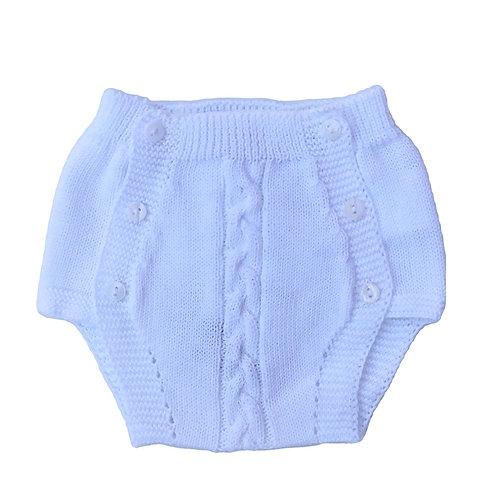 White Cotton nappy cover/ Tapa fraldas malha branco