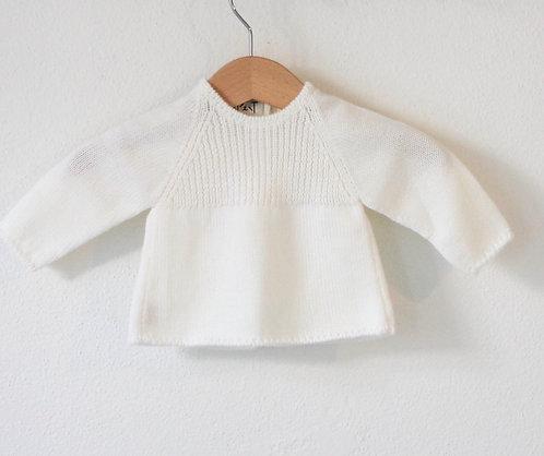 Cream Baby wool cardigan raglan/ Camisola bebe lã per raglan