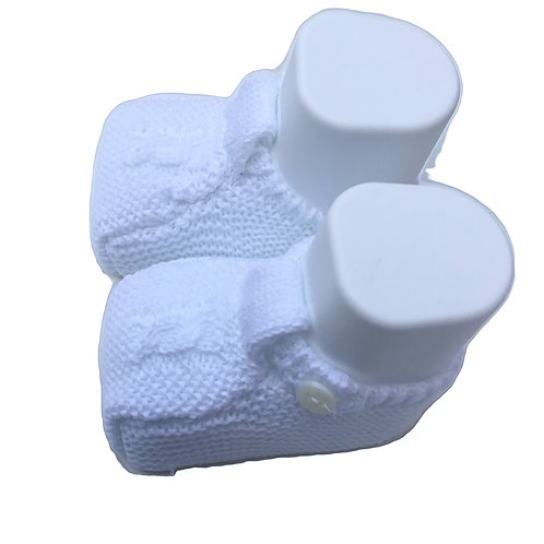 White Baby cotton shoes/ Botas de bebe de algodão branco