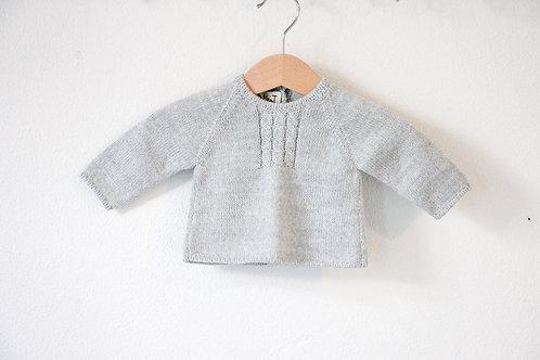 Grey Baby wool cardigan / Camisola bebe cinz lã torçidos