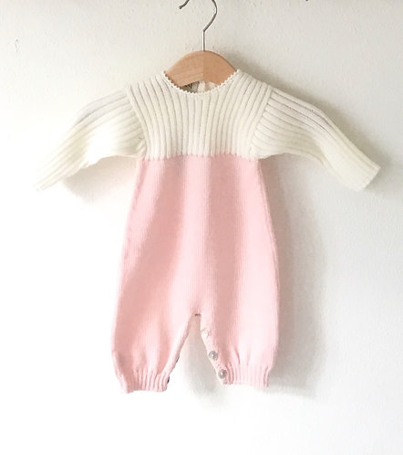 Wool overall pink and pearl / Macacão cor de rosa e perola