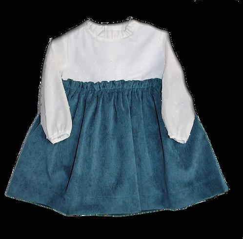 Blue plumetti party dress/Vestido de festa plumetti azul
