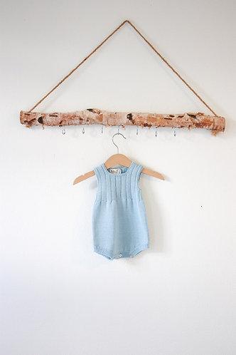 Blue Wool baby romper/ Fofo azul bebe lã
