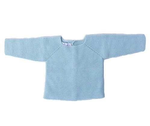 Light green cotton baby jumper/ Camisola bebe de algodão verde água