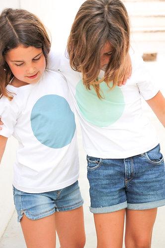 Blue Spot t-shirt unisex / T-shirt azul bola unisexo