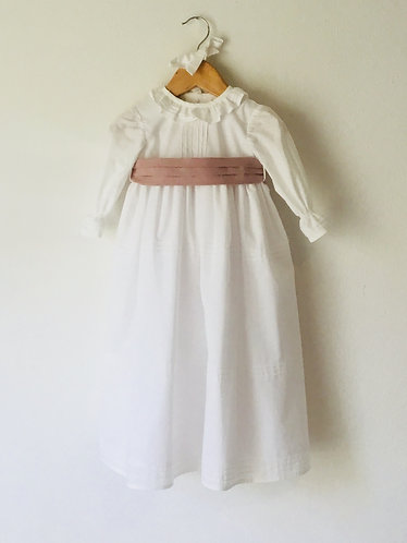 Long Batism dress with cap/ Vestido batizado comprido com touca