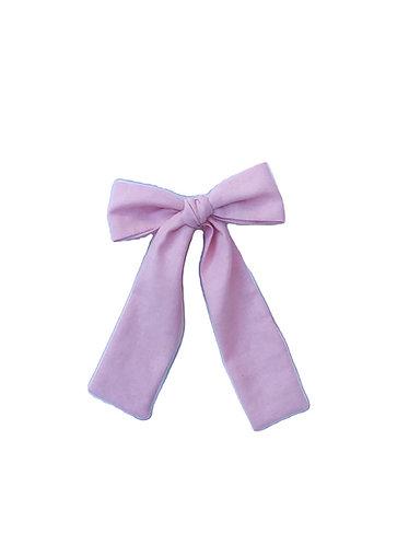 Light pink long hair bow/Laço de cabelo comprido cr claro